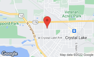 Map of 344 West Woodstock Street CRYSTAL LAKE, IL 60014