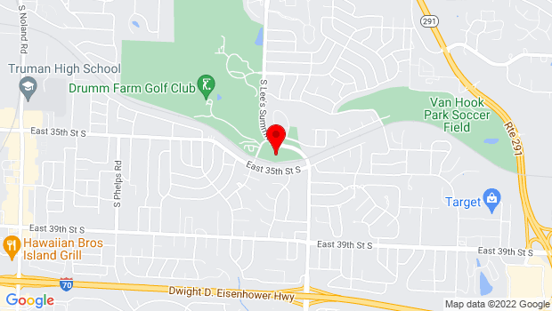 Google Map of 3440 S. Lee's Summit Rd, Independence, MO 64055