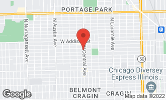 Map of 3440 North Central Avenue CHICAGO, IL 60634