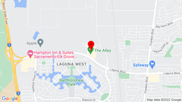 Google Map of 3443 Laguna Blvd., Elk Grove, CA 95758