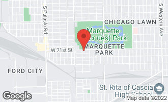 Map of 3447 West 71st Street CHICAGO, IL 60629