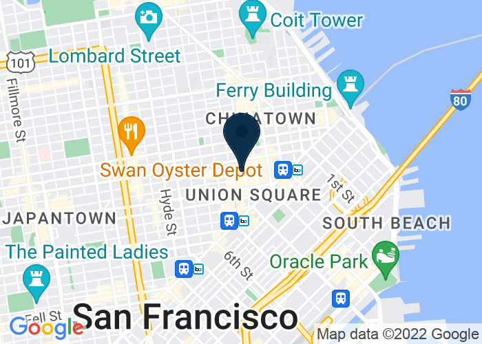Map of 345 Stockton Street, San Francisco, CA 94108, United States
