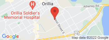 Google Map of 345+West+Street+South%2COrillia%2COntario+L3V+5H1