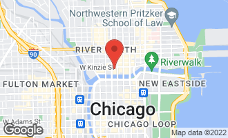 Map of 345 North Lasalle Street #1703 CHICAGO, IL 60654