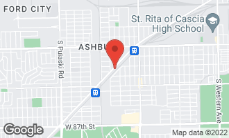 Map of 3457 West Columbus Avenue CHICAGO, IL 60652