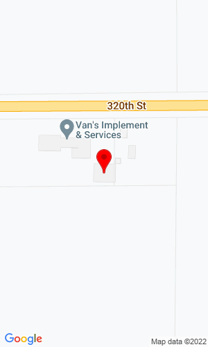 Google Map of Van's Implement 3465 320th Street, Hull, IA, 51239