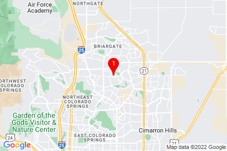 Google Map of 3465 Honeyburyl Dr Colorado Springs, CO, 80918