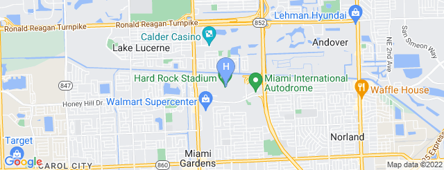 Hard Rock Stadium Parking Lots