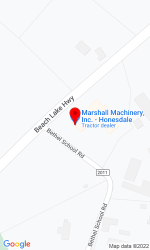Google Map of Marshall Machinery, Inc. 348 Bethel School Road, Honesdale, PA, 18431