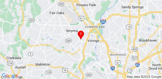 Google Map of 3496 Fenton Drive Smyrna, ga 30080