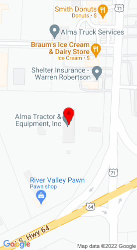 Google Map of Alma Tractor & Equipment Inc 35 Highway 71 North, Alma, AR, 72921-2169