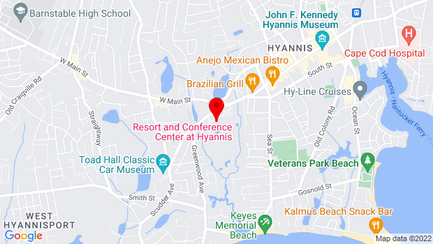 Google Map of 35 Scudder Avenue, Hyannis, MA