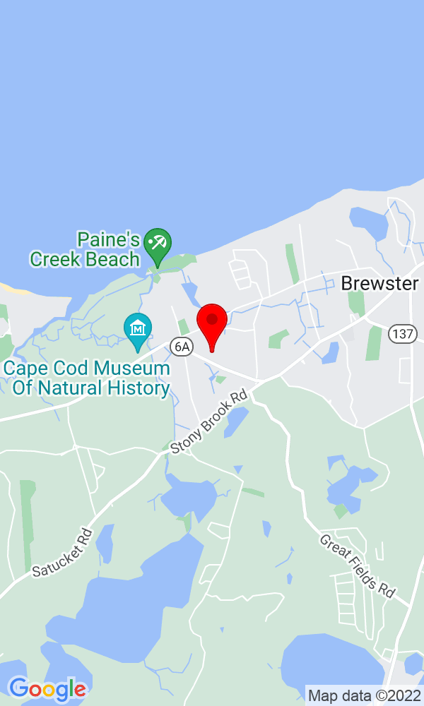 Google Map of 35 Sea Meadow Lane Brewster MA