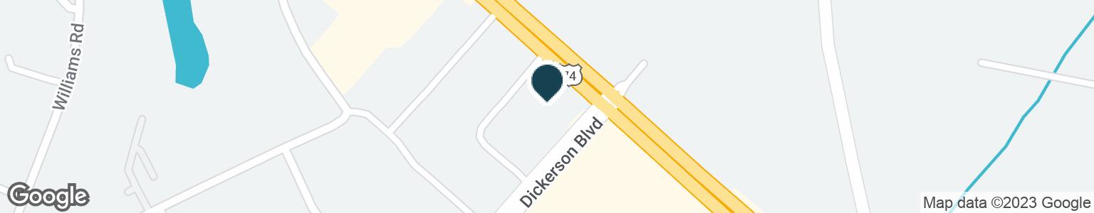 Google Map of1993 DICKERSON BLVD