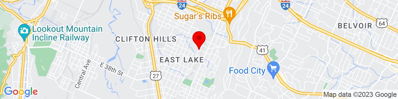 Google Map of 35.007574, -85.280356