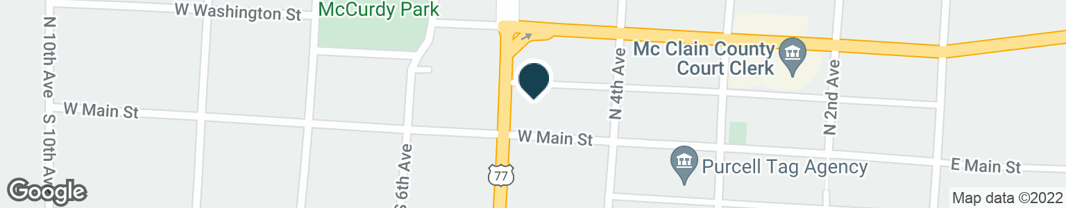 Google Map of116 N GREEN AVE