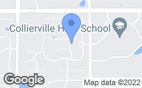 Map of Collierville, TN