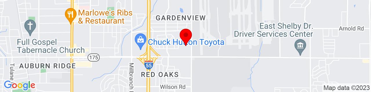 Google Map of 35.023696, -89.991528