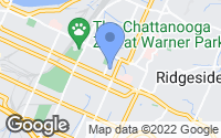 Map of Chattanooga, TN