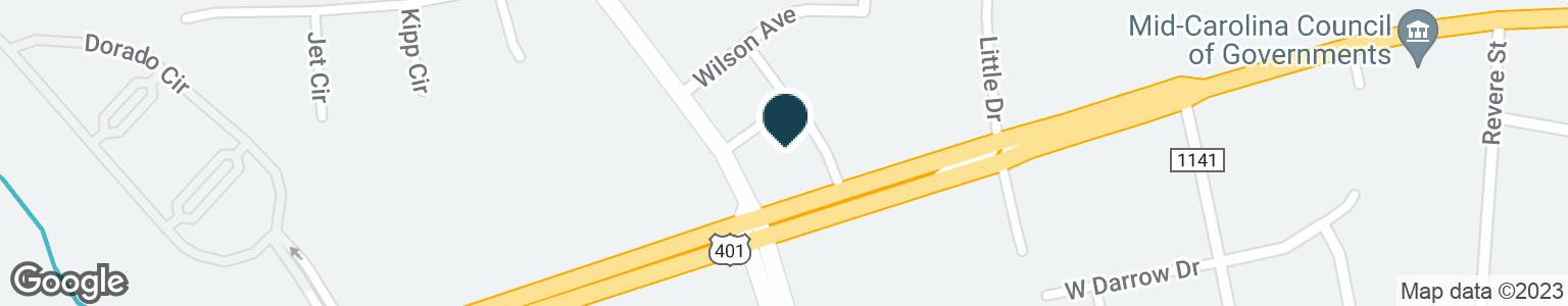 Google Map of6330 RAEFORD RD
