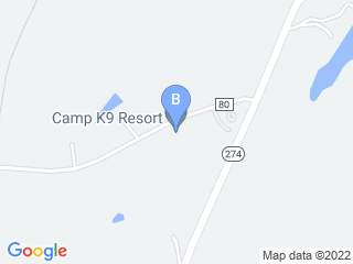 Map of Camp K9 Resort Dog Boarding options in York | Boarding