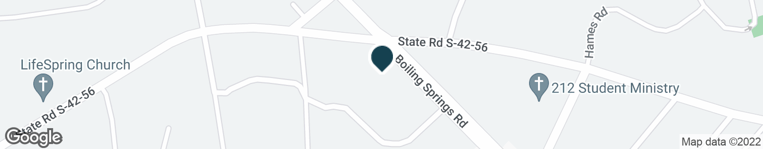 Google Map of3681 BOILING SPRINGS RD