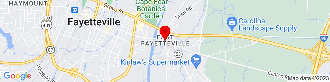 Google Map of 35.0465533, -78.8547466
