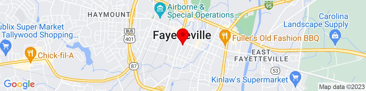 Google Map of 35.0492288, -78.8781025