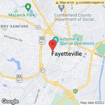 Map of Terminix at 509 W. Russell St, Fayetteville, NC 28301