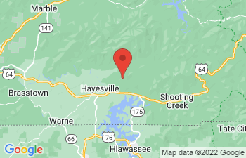 Map of Hayesville