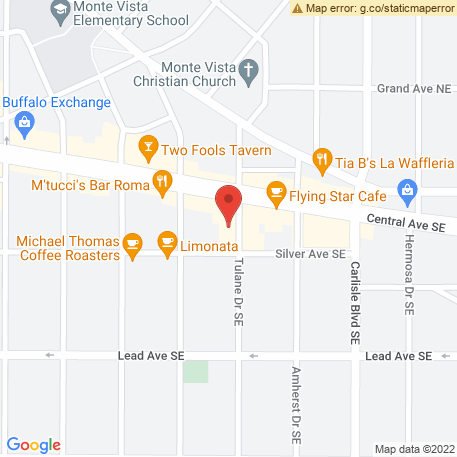 Field & Frame on Map (107 Tulane Dr Se, Albuquerque, NM 87106) Map