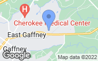 Map of Gaffney, SC