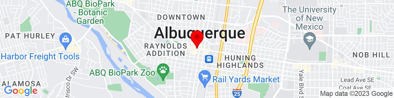 Google Map of 35.08444444444444, -106.65111111111112