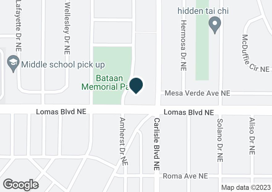 Google Map of3501 LOMAS BLVD NE
