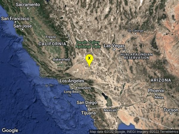 earthquake 22km NNE of Barstow, CA
