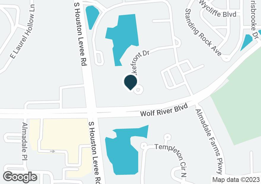 Google Map of2016 S HOUSTON LEVEE RD