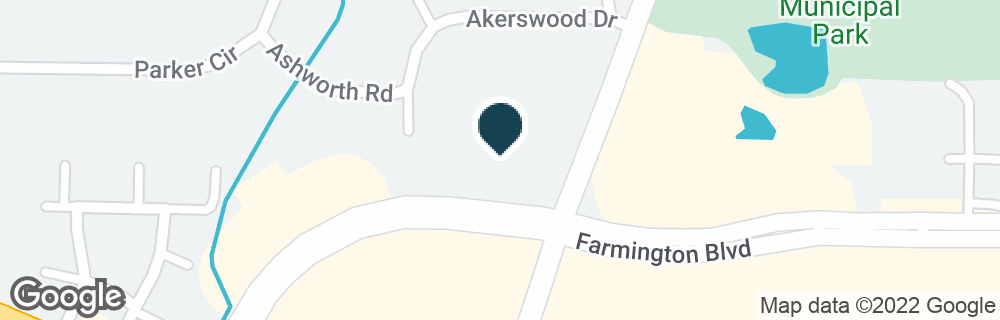 Google Map of7650 W FARMINGTON BLVD