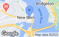 Map of New Bern, NC