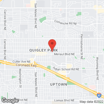 Map of Guitar Center Lessons at 6001 Menaul Boulevard Northeast, Albuquerque, NM 87110