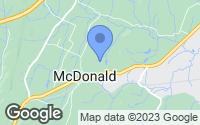 Map of McDonald, TN