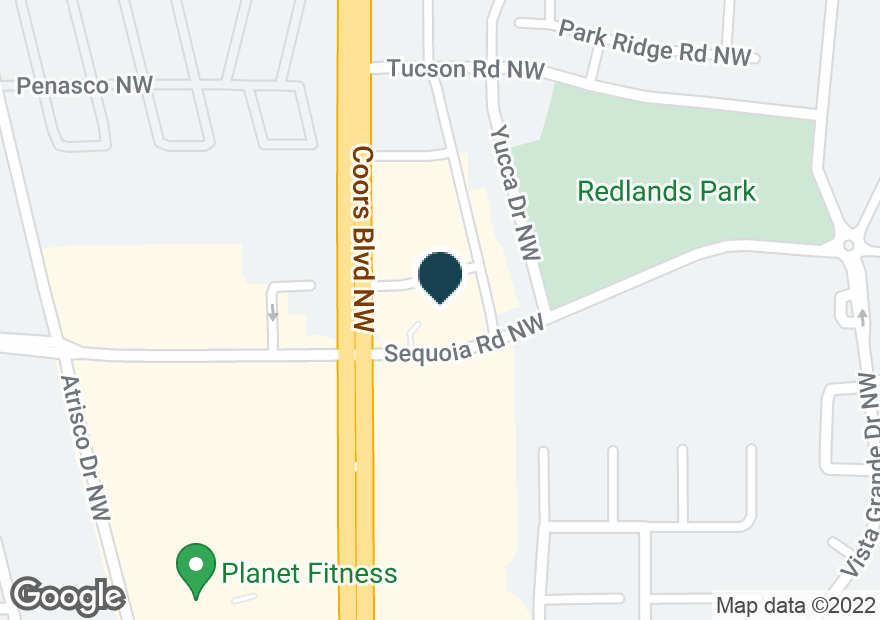 Google Map of3400 COORS BLVD NW