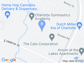 Map of Critter Sitters Charlotte Dog Boarding options in Charlotte | Boarding
