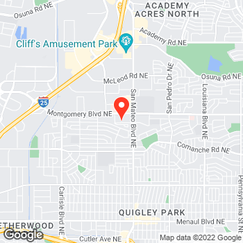 Map of Pizza in Albuquerque, NM – Cicis Pizza at 4770 Montgomery Blvd Ne, Albuquerque, NM 87109