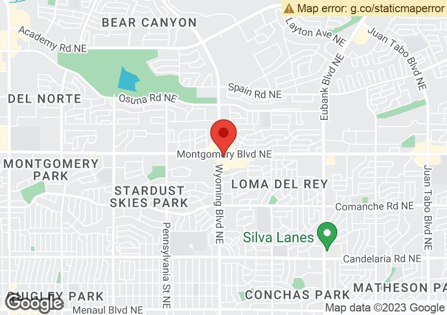 Google Map of 8400 MONTGOMERY BLVD NE