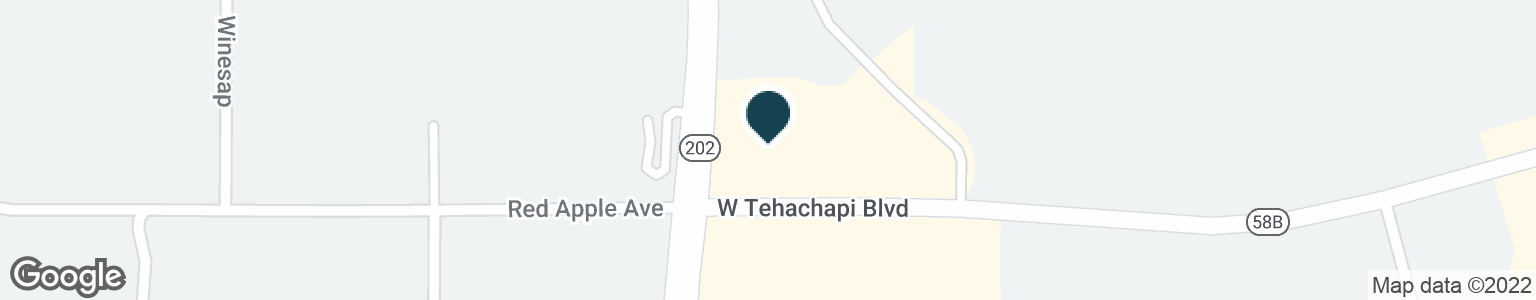 Google Map of1101 W TEHACHAPI BLVD