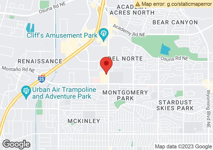 Google Map of 5001 MONTGOMERY BLVD NE
