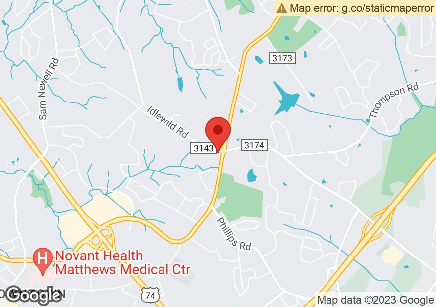 Google Map of 3431 MATTHEWS MINT HILL RD