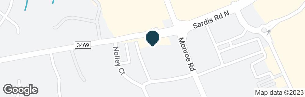 Google Map of1510 SARDIS RD N