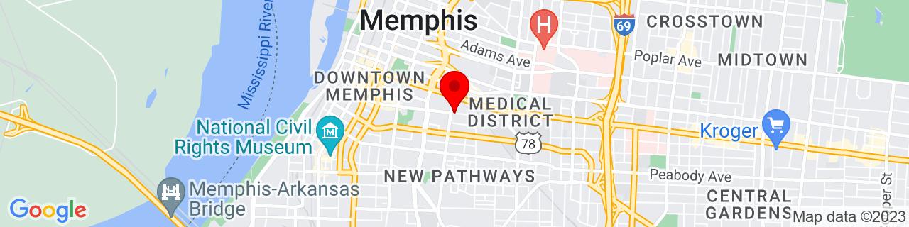 Google Map of 35.1385939, -90.0425873