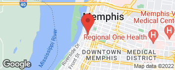 Map of 53 Monroe Ave in Memphis